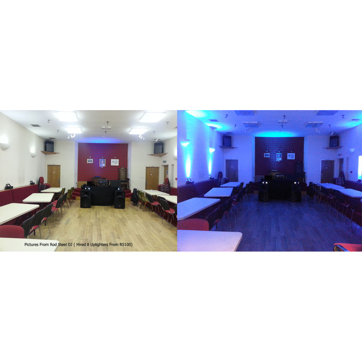 LED Mood Lighting Hire Battery Uplighters Outdoor Rated