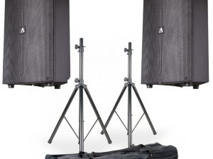 2 x Avante Audio A15 with Stands and Bag Package