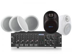 16 Speaker 4 Zone Background Music System