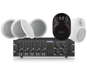 24 Speaker 4 Zone Background Music System