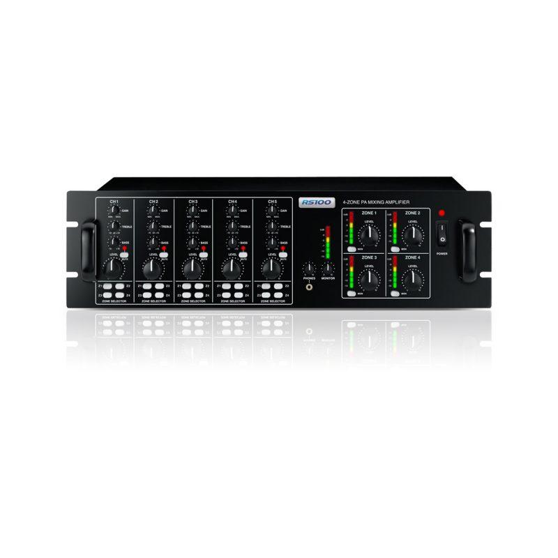 24 Speaker 4 Zone Background Music System