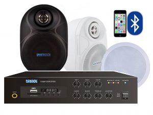 6 Speaker Bluetooth MP3 USB Background Music Sound System