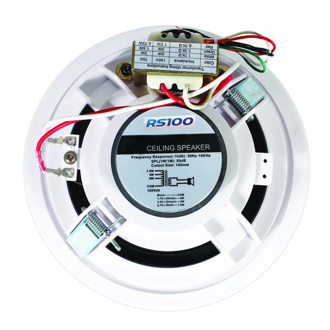 100v Line Speakers Rs100 Pro Audio, Wiring In Wall Speakers